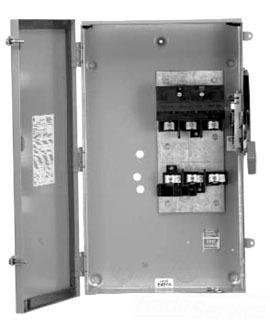 Safety Switch 400 Amp (GE TH3365R 3 Wire 3 Pole Fusible Type TH Heavy-Duty Safety Switch 600 Volt AC 400 Amp NEMA 3R Spec-Setter™)