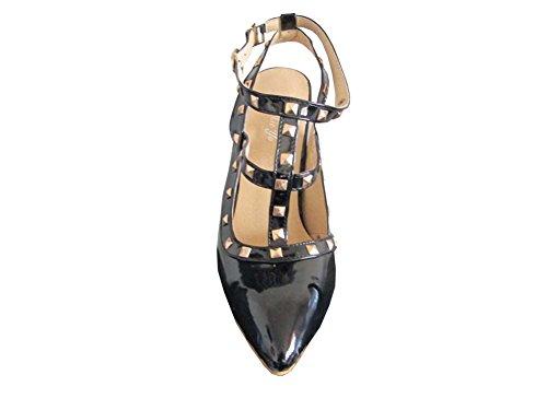 Pompes 2015 Pointues Noir Couleur Rivers Chaussures Parti Hauts Mode Ladies À Talons Sexy Summer Femme Bonbons New Vintage raCwrfq