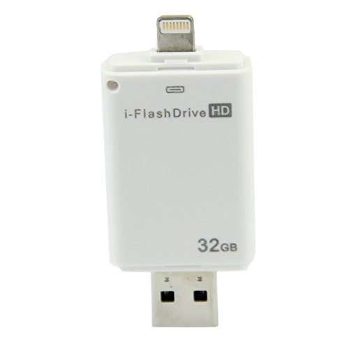 YSTD® New USB 16GB/32GB i-Flash Drive U Disk Memory Card Reader Adapter For iPhone5/iPhone 5S/iPhone 5C/iPad4/iPad Air/iPad Mini/iPad Mini2/iPad Touch5/iPhone6/iPad6 (32GB)