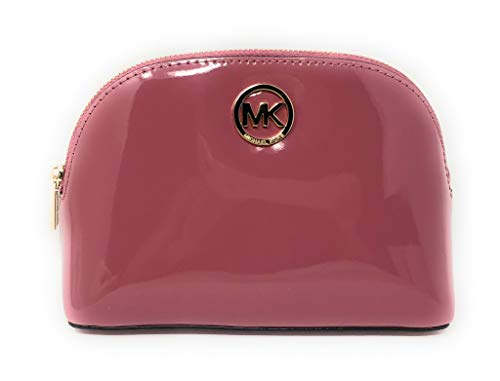 - Michael Kors Fulton Patent Leather Cosmetic Travel Pouch in Tulip