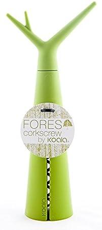 Koala Internacional Hosteleria Forest Sacacorchos, Plástico y Poliamida, Verde Lima, 8.5x4.5x20 cm