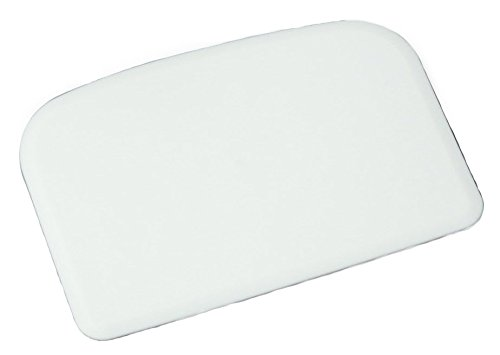 Chef Craft 20808 Flexible Dough Scraper, Plastic 6 in L x 4 in W White ()