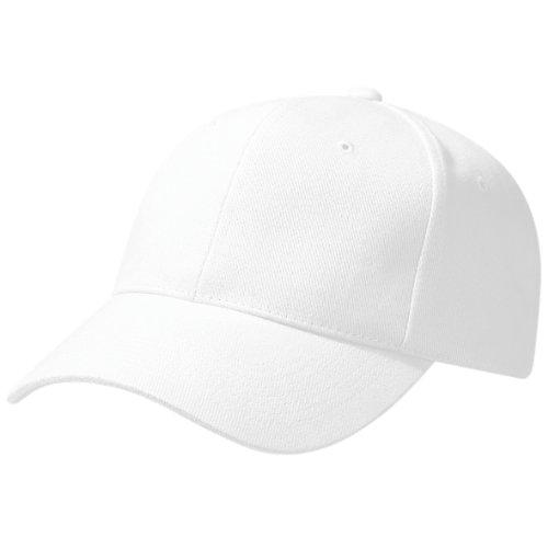 primera Verano Beechfield Style Piscina Unisex Visera calidad 100 de grueso Pro Gorra Modelo algodón Blanco wnqqy7xEYg