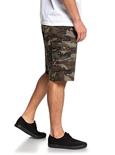 Cargo Homme Battle Tmp0 Crucialbattlesh Camo Quiksilver Vert Print Short Crucial wtUIq5qZ