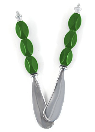 (Polished Stainless Steel Spreader with Green Handle, Set of)