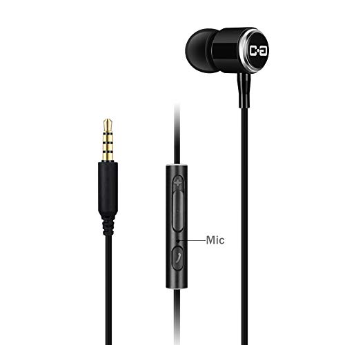 Single Earbud, Wired One Side Headphone with Mic, Remote and Volume Control, One Ear Wearing and Keep the Other Ear Open for Awareness, ChanGeek CGS08