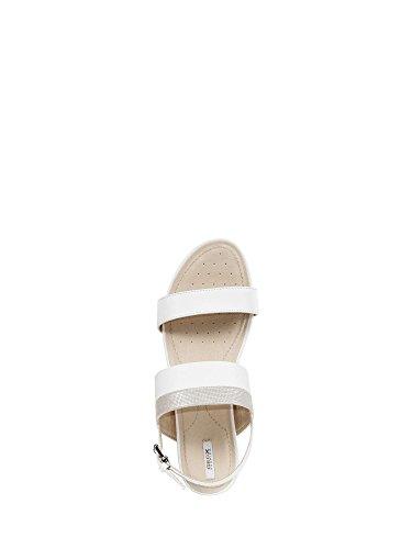 085GL Sandalo Geox Bianco Argento Donna D7293C qUxwC8