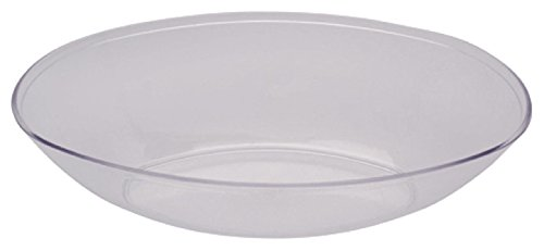 Creative Converting Form and Function Plastic Oval Bowl, Large, Clear