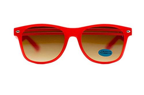 Unisex Beach Party Double Stripe Wayfarer Sunglasses (Red, - Sunglasses Niobe