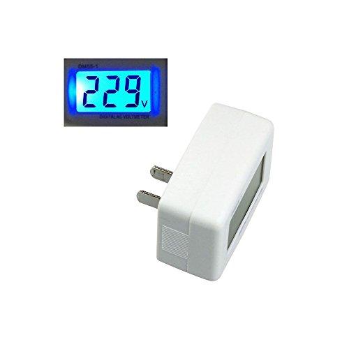 Solu ®Ac 80-300v LCD Display Digital Voltmeter American Style Plug Voltage Test Tool Dm55-1//flat Plug Ac 80-300v Voltage Panel Power Line Volt Test Monitor Gauge Meter Digital LCD Voltmeter for House Office