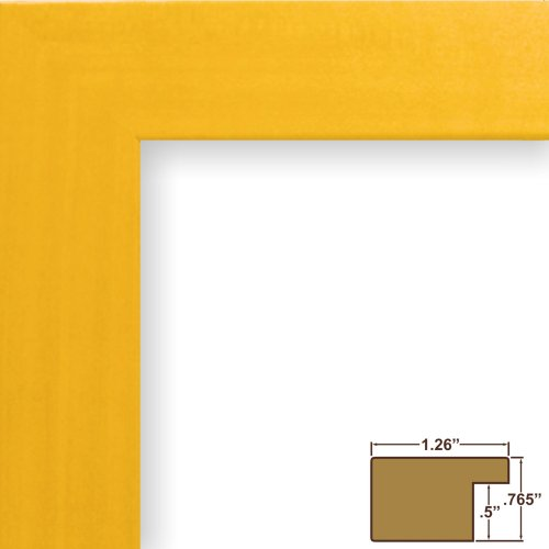 Craig Frames 26027 11 by 14-Inch Picture Frame, Smooth Wrap Finish, 1.26-Inch Wide, - Frame Yellow