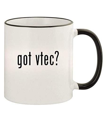 got vtec? - 11oz Colored Rim and Handle Coffee Mug, Black