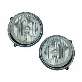 Jeep Liberty Headlights OE Style Replacement Headlamps Driver/Passenger Pair New