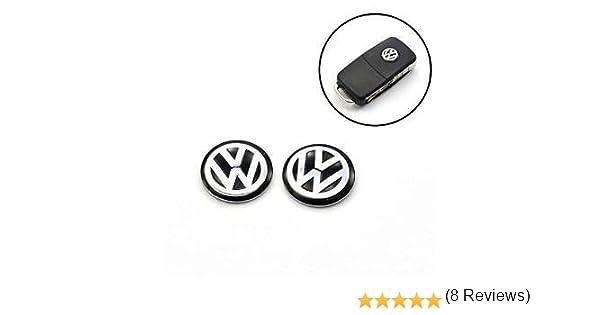 2unids Repuesto llavero Emblemas – 19 Car marcas – 14 mm etiqueta logo emblema llave pegatina logotipo