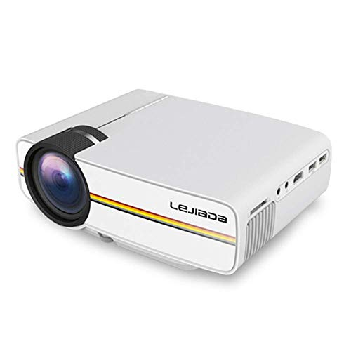 LULUKEKE Projector,YG410 Mini Projector, Wired Sync Display, HD Video Home LCD Movie,1080P LED Video Projektor mit USB…