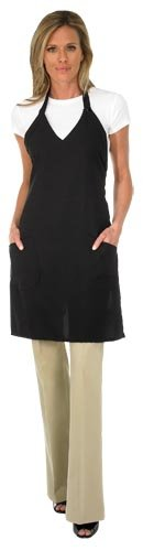 Zyrca 78 Silhouette Stylist Apron, Lightweight Polyester, V-Neck, Adjustable Snap Closure, - Flattering Silhouette