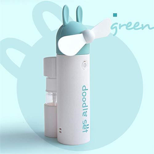 Dergo ☀USB Mini Handheld Fan Mist Spray Fan Air Water Bottle Cooling Misting USB Powered (B)