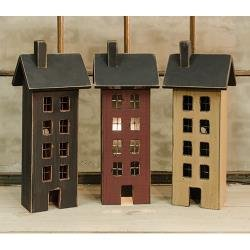 (Heart of America Assorted Primitive Saltbox Houses - Set of 3)