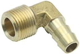 Pack of 5 LTWFITTING 90 Degree Elbow Brass Barb Fitting 1//2 ID Hose x 3//8 Male NPT Fuel Boat Water