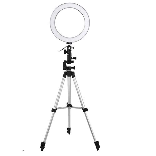 Pikyo AL88 Big LED Ring Light Cell Phone Holder with Dimmable Led Camera for Live Stream/Photography/Video Shooting & More Uses Compatible with All Smartphones (Multi Color)