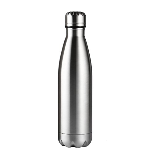 Ultimate Vacuum Insulated, OUTAD Double Walled Stainless Steel Water Bottle & Drinks Bottle - 24 Hours Cold & 12 Hot - 500ml - Perfect Sports Water Bottle, Vacuum Flask Bottle