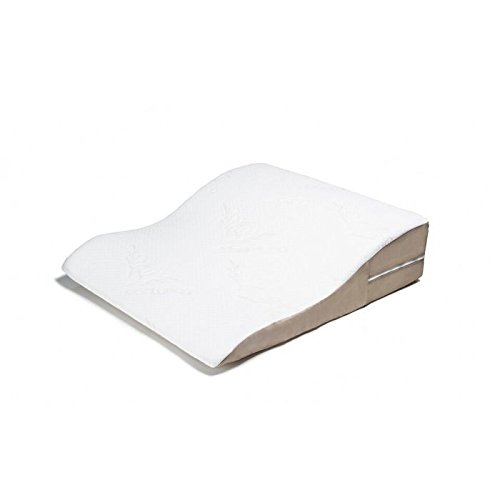 Avana Ogee Memory Foam Bed Wedge Support Polyurethane Foam Pillow with Bamboo Cover by Avana