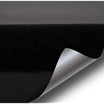 VViViD Black High Gloss Realistic Paint-Like Microfinish Vinyl Wrap Roll XPO Air Release Technology (1ft x 5ft)