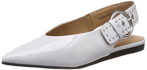 Bronx Kvinder Bx 1480 Bfennerx Slingback Ballerinaer Hvid (hvid 04) rRuqS