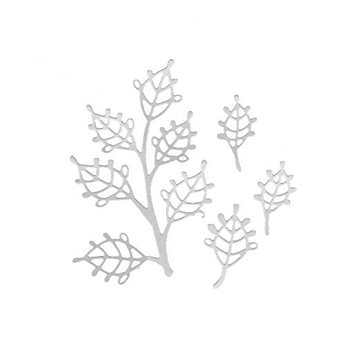 (essibly11jmp Exquisite Branch Leaves Metal Cutting Dies DIY Scrapbooking Paper Cards Album)