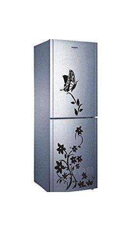 Pegatina frigorifico nevera mueble cocina de mariposas y flores ...