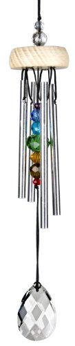 Woodstock Gem Drop Windchime, Prism, 10-Inch