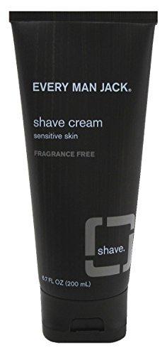 Every Man Jack Shave Cream 6.7oz Fragrance-Free (6 -