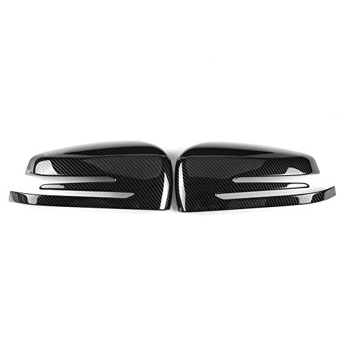 Keenso 1Pair Carbon Fiber ABS Rearview Mirror Cover Trim for Mercedes Benz A B C E GLA Class W204 W212 (2013 Mercedes Benz Glk 250 For Sale)