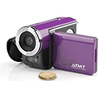 ATMT DVC3060PL Digital Video Camcorder with 1.5-Inch Color TFT Screen, 3 Mega Pixel interpolated to 5 MP (Purple)