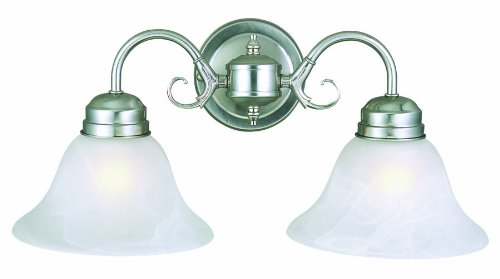Design House 511600 Millbridge 2 Light Wall Light, Satin Nickel