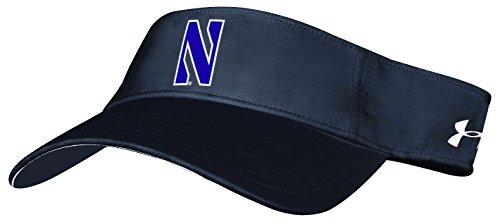 (NCAA Northwestern Wildcats Adult NCAA Renegade Visor, One Size,)