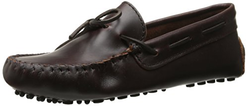 Minnetonka Women's Classic Driving Moccasin,Dark Brown Lariat,8.5 M US (Womens Brown Moccasins)