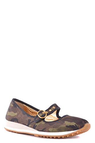 Car Shoe Women's MCBI063028O Green Fabric Flats Z0GyJX