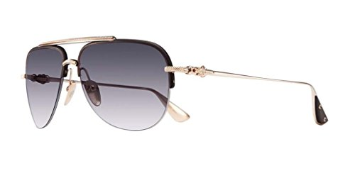 Chrome Hearts - I'Deatit I - Sunglasses (Matte Black/Gold Plated-Uni Carbon, Smoke - Sunglasses Hearts Chrome Aviator