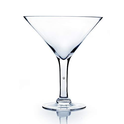 WGVI Clear Short Martini Glass Vase/Holder. Open: 9