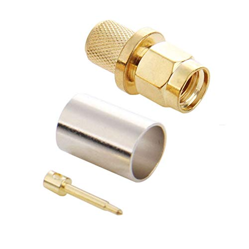 Multifunctional Meet Different Needs RG400 RG142 10 PCS Gold Plated SMA Male Plug Crimp RF Connector Adapter for RG58 LMR195 Cable