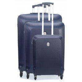 Delsey Biela Set Set di valigie blu scuro