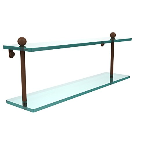 Allied Brass PR-2/22-ABZ Double Shelf, 22-Inch, Antique Bronze by Allied Precision Industries
