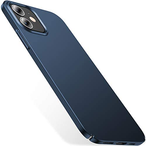 CASEKOO Slim Fit Compatible with iPhone 12 Mini Case 2020, [Ultra Thin] Matte Finish [Anti-Fingerprint] Durable Phone Cases, Hard Plastic Lightweight Cover, 5.4-inch, Pacific Blue