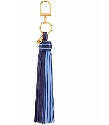 Tory Burch Keychain Two-Tone Tassel Key Fob (NAVY SEA/MONTEGO - Buy Tory Burch