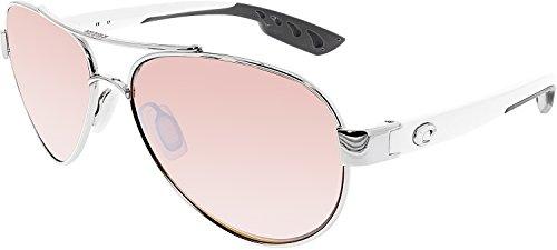 Costa Del Mar Loreto Sunglasses, Palladium, Silver Mirror 580P - Silver Mar