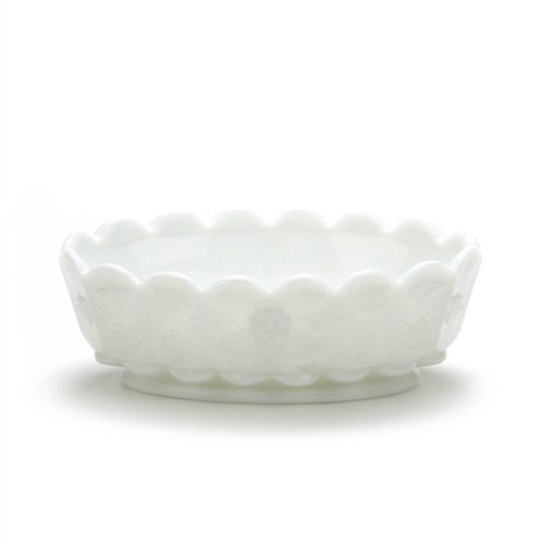 Paneled Grape Milk Glass - Paneled Grape Milk Glass by Westmoreland, Glass Nut Dish