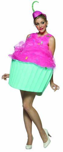 Rasta Imposta Cupcake Costume, Pink/Blue, Adult size - Costumes Food