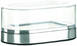 Emsa 508528 Butterdose, Edelstahl, 10 x 17 x 7.5 cm, Silber, Accenta