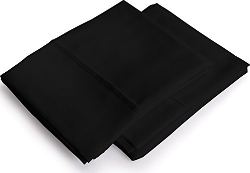 Utopia Bedding Pillowcases 2 Pack – (King, Black) - Brushed Microfiber Pillow Covers - Maximum Softness - Elegant Double-Stitched Tailoring - Reduces Allergies and Respiratory Irritation